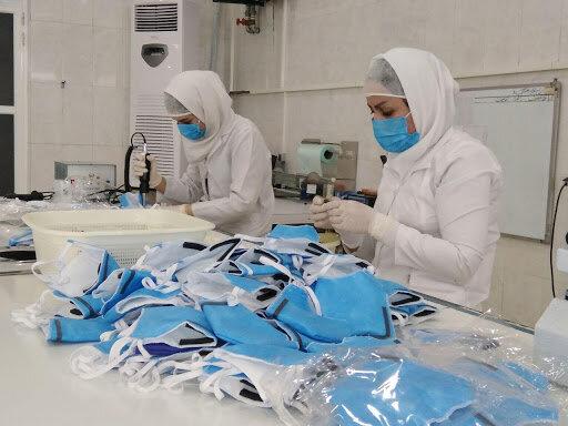 خواف | تولید ۶۰ هزار ماسک بهداشتی توسط یک گروه همیار بهزیستی خواف