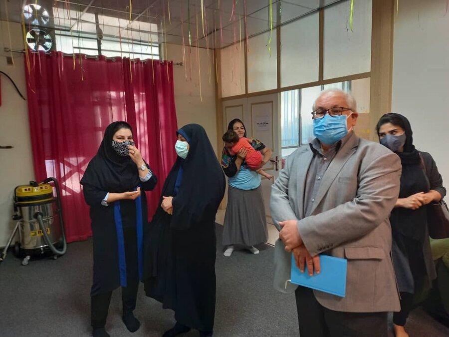 بازدید رئیس مرکز توسعه پیشگیری از مرکز مادر کودک پروین