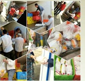 بافق | توزیع گوشت مرغ بین خانواده های تحت پوشش بهزیستی بافق