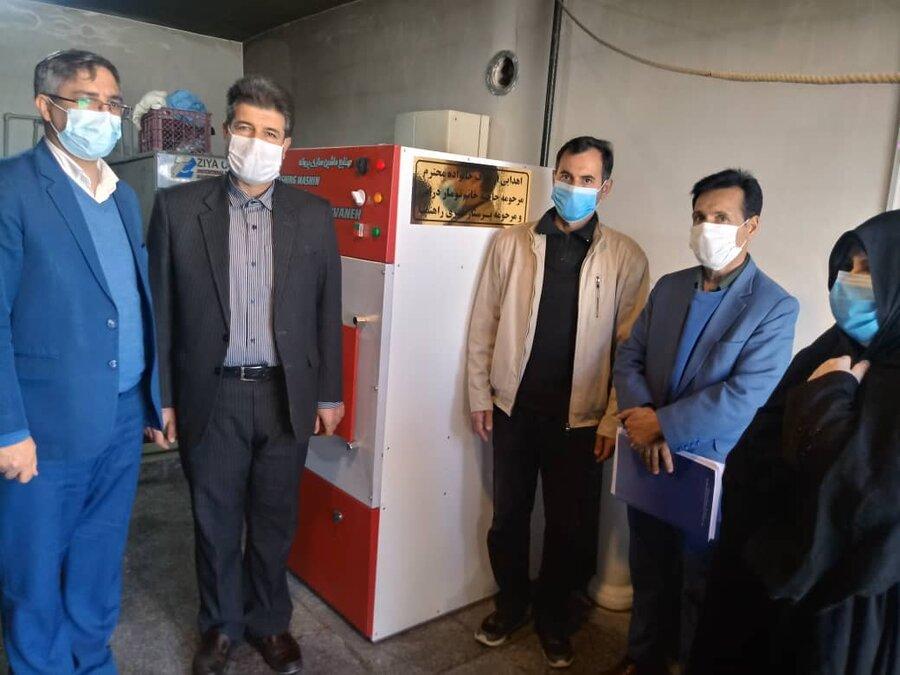 شیروان  اهداء یک دستگاه خشک کن صنعتی به مرکز مهر شیروان