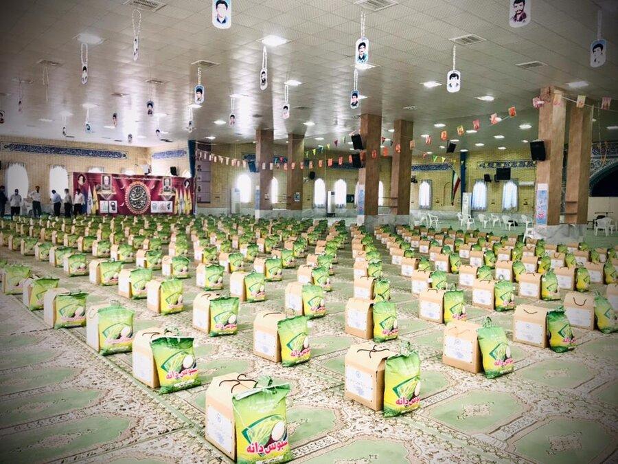 دیر  ۲۵۰۰ بسته کمک معیشتی شورای راهبردی پتروشیمی ها بین مددجویان  بهزیستی توزیع شد