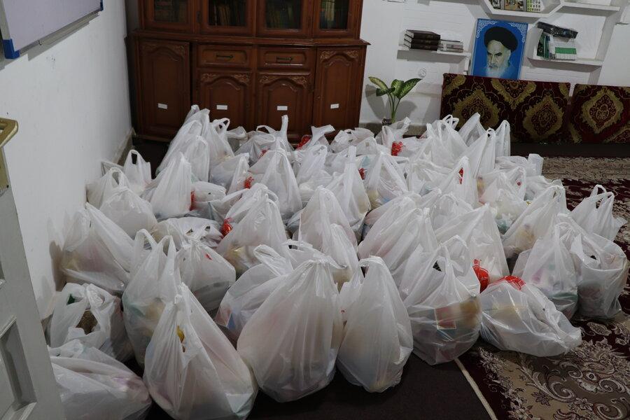 آمل| ۱۲۰۰ بسته کالای معیشتی بین جامعه هدف بهزیستی شهرستان آمل توزیع شد