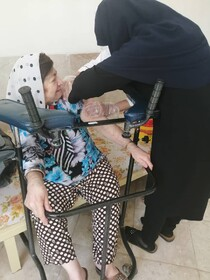 تفت | تزریق واکسن کووید ۱۹ به سالمندان و معلولین موسسه نیکوکاری فاطمه الزهرا(س) تفت