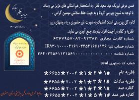 راههای پرداخت زکات فطره و کفاره به نیازمندان تحت پوشش بهزیستی استان اصفهان
