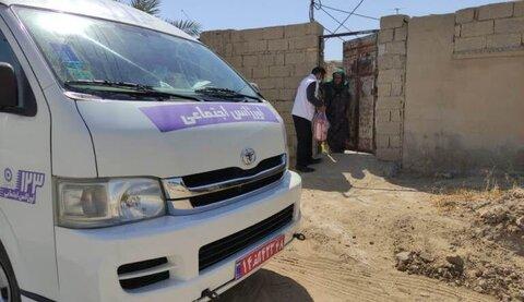 گناوه| بهزیستی به خانوارهای آسیب دیده از زلزله بسته معیشتی اهدا کرد