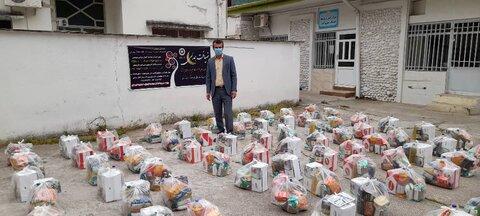 بهشهر ׀ توزیع ۲۵۰ بسته سبد معیشتی بین مددجو یان بهزیستی شهرستان بهشهر در ماه مبارک رمضان