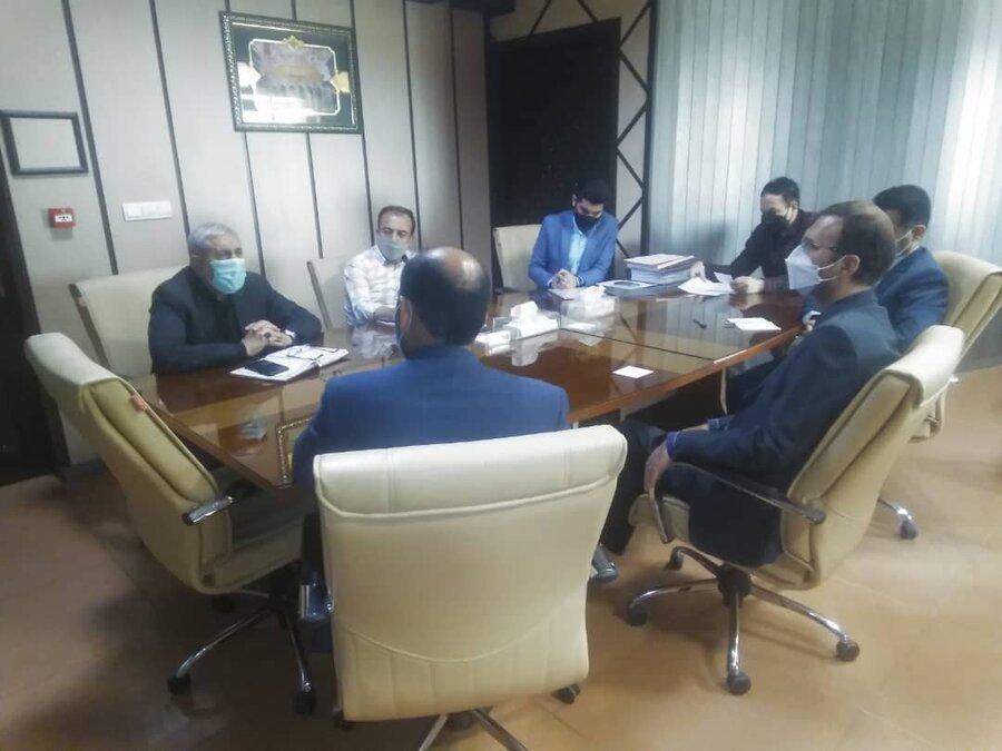 برگزاری جلسه مدیران کل بهزیستی ، بنیاد مسکن و مدیر عامل انجمن خیرین مسکن ساز استان قم