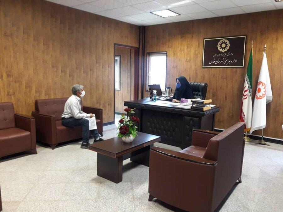 شهرقدس| ملاقات رئیس بهزیستی شهرستان با مددجویان و افراد جامعه هدف