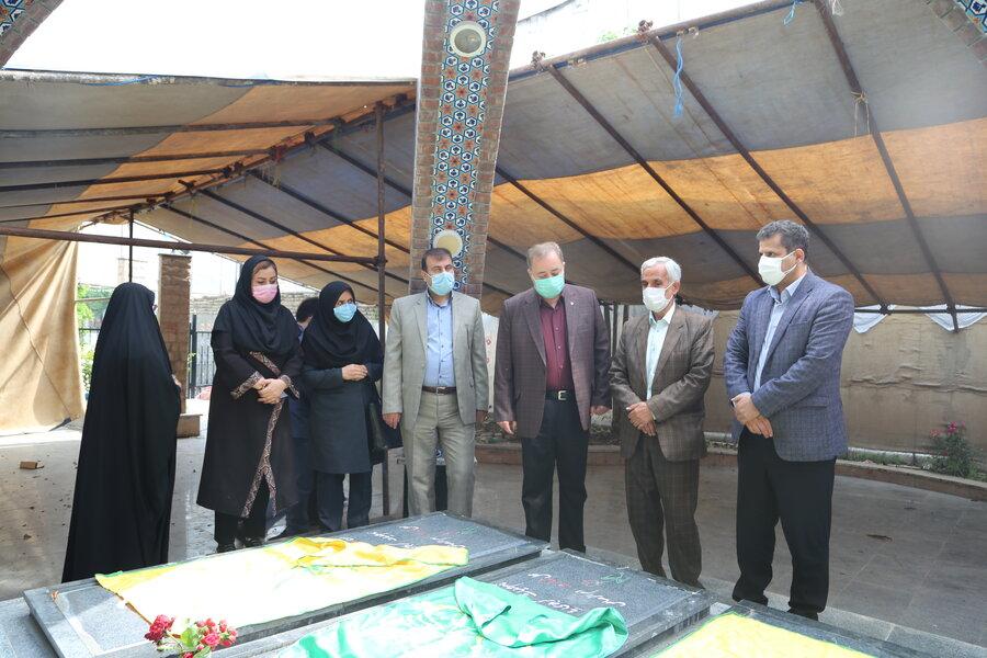 حضور مدیرکل بهزیستی مازندران در گلزار شهدا