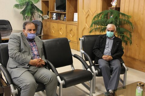 گزارش تصویری| نشست مدیر کل بهزیستی استان با مدیر بانک قرض الحسنه رسالت
