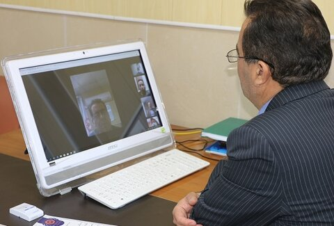 تبریک روز ارتباطات و روابط عمومی بصورت ویدو کنفرانسی