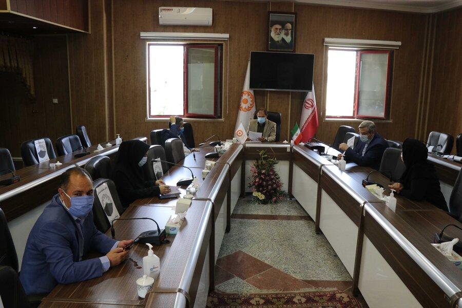تشکیل اولین جلسه دبیرخانه سلامت در اداره کل بهزیستی آذربایجان غربی