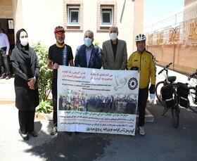 سفیران صلح و دوچرخه سواران جهانگرد ایرانی در بهزیستی کردستان