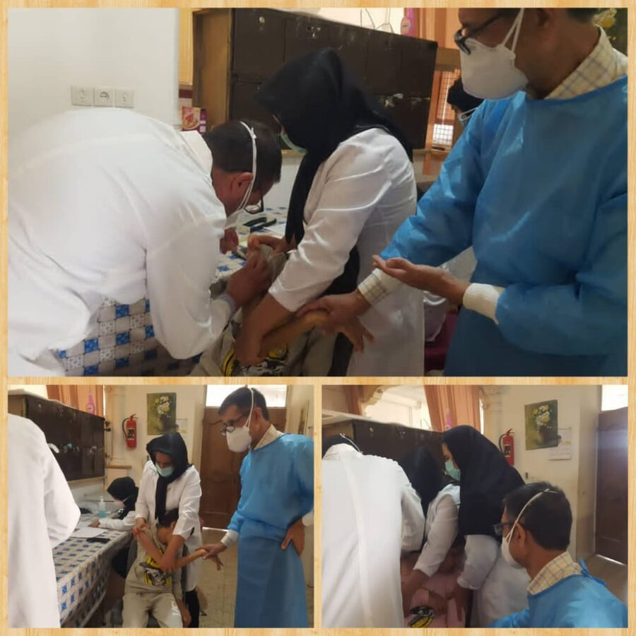 خرامه   واکسیناسیون مددجویان مقیم مراکز نگهداری تحت نظارت