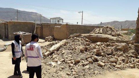 گزارش تصویری از حضور تیم اورژانس ۱۲۳ در مناطق زلزله زده بخش شوقان