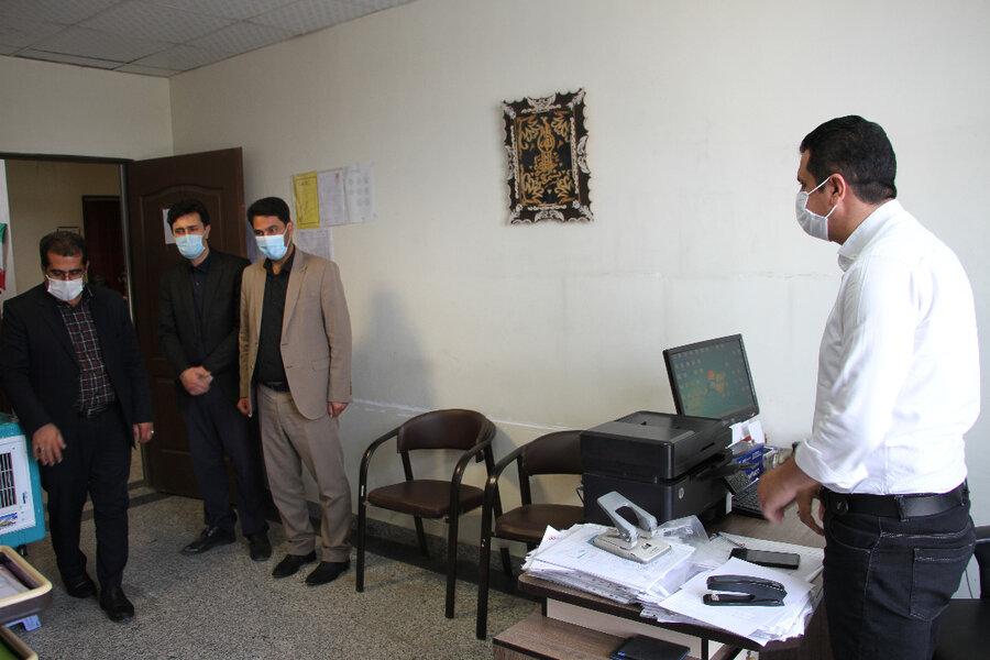 بهارستان| بازدید سرزده معاون فرماندار از بهزیستی شهرستان