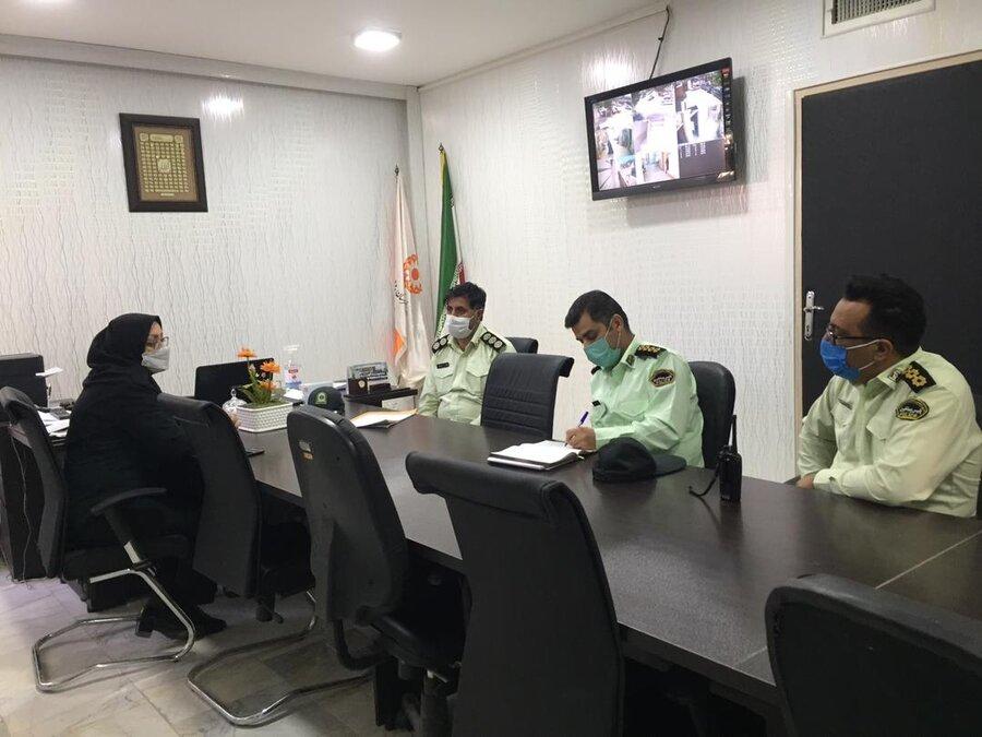 پیشوا| حضور رئیس اداره خدمات قضایی پلیس پیشگیری استان در بهزیستی شهرستان