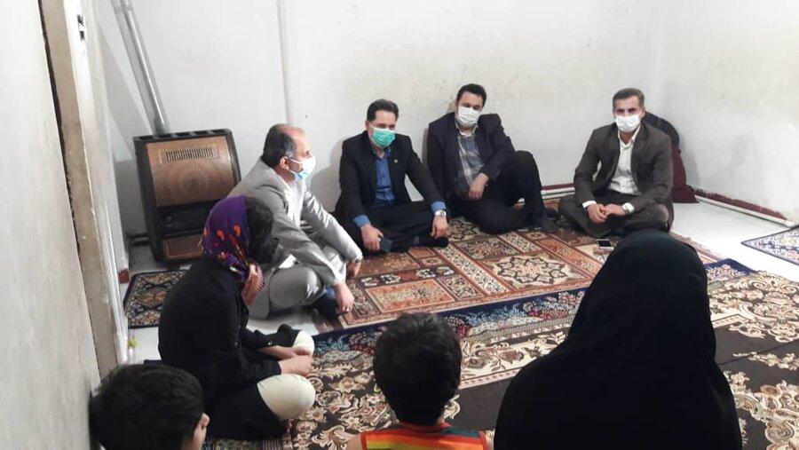 مدیر کل بهزیستی استان از منزل مددجویان تحت پوشش سازمان بازدید کرد