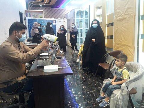 """گناوه  افتتاحیه و شروع طرح آمبلیوپی """"پیشگیری از تنیلی چشم""""  در شهرستان گناوه"""