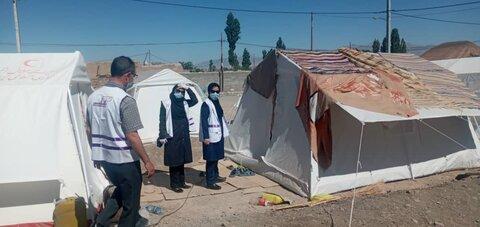 حضور تیم اورژانس اجتماعی ۱۲۳در مناطق زلزله زده گرمه