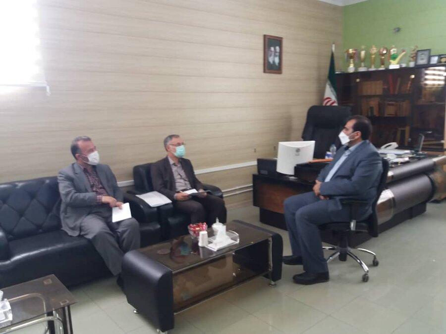 دیدار مدیر کل بهزیستی استان اردبیل با فرماندار مشگین شهر