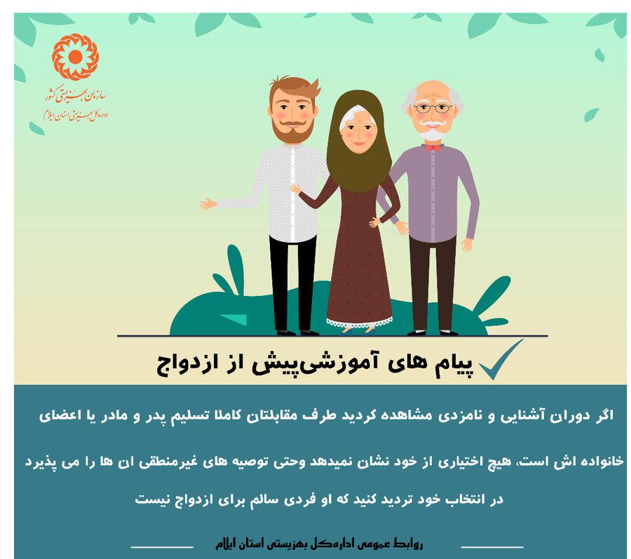 ابنفوگرافیک| پیام های آموزشی پیش از ازدواج