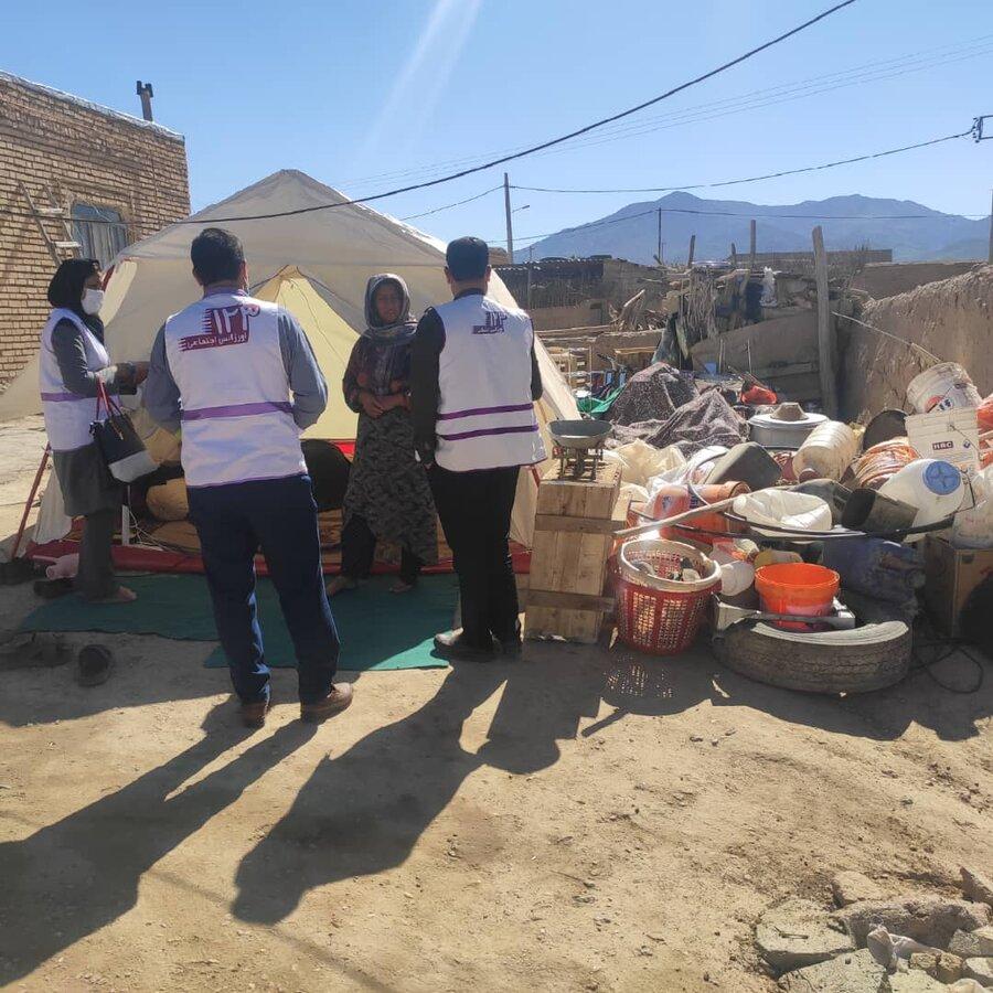حضور تیم اورژانس ۱۲۳ شهرستان راز و جرگلان از منطقه زلزله زده