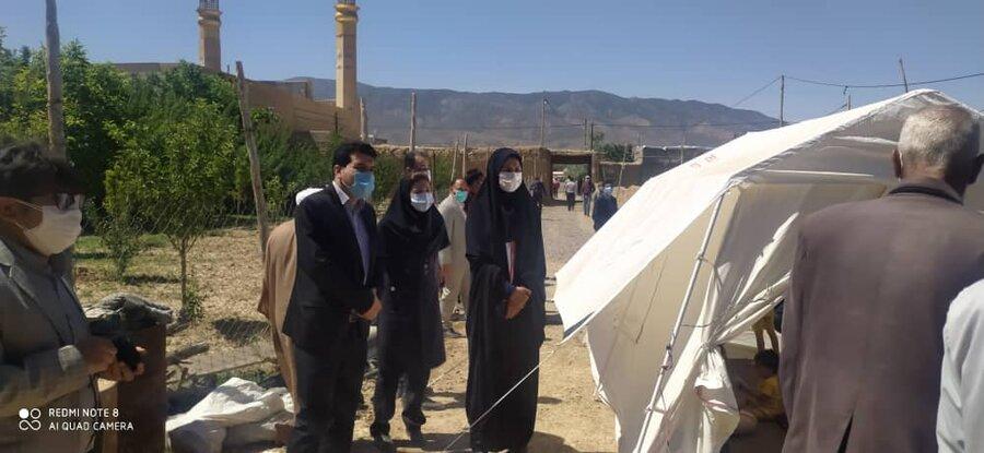 گزارش تصویری از بازدید تیم کارشناسی از مناطق زلزله زده