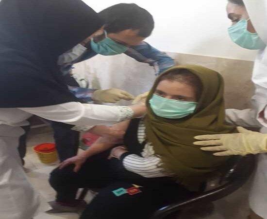 اجرای مرحله اول واکسیناسیون کووید ۱۹ در مرکز مراقبتی توانبخشی ۲۲ بهمن بیجار