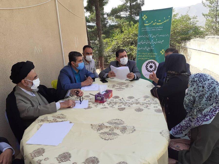 برپایی میز مثبت زندگی در مناطق محروم استان قزوین