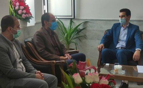 مهریز | دیدار رئیس اداره بهزیستی شهرستان مهریز با دادستان شهرستان