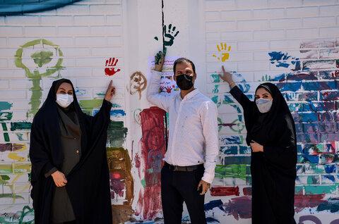 گزارش تصویری|نقاشی دیواری کودکان اتیسم در آبادان