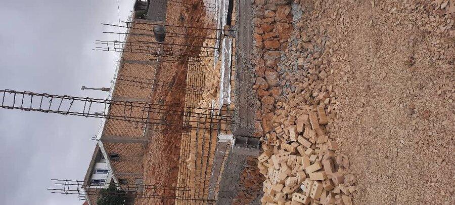 سپیدان   بازدید از مسکن در حال ساخت مددجویان بهزیستی