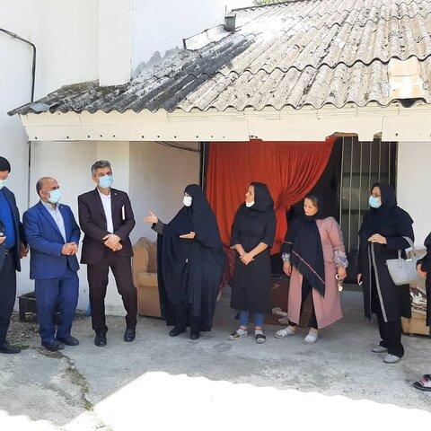 بازدید معاون پشتیبانی و منابع انسانی بهزیستی استان از مرکز اقامتی زنان سفیران ندای آرامش خزر شهرستان فومن