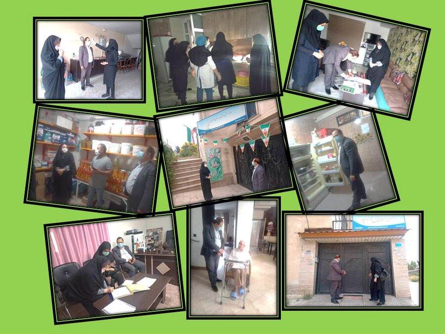 ساوجبلاغ | بازدید رئیس بهزیستی ساوجبلاغ از مراکز نگهداری شبانه روزی