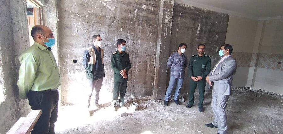 محمودآباد| بازدید رئیس بهزیستی شهرستان محمودآباد از پروژه در حال ساخت مسکن مددجویان