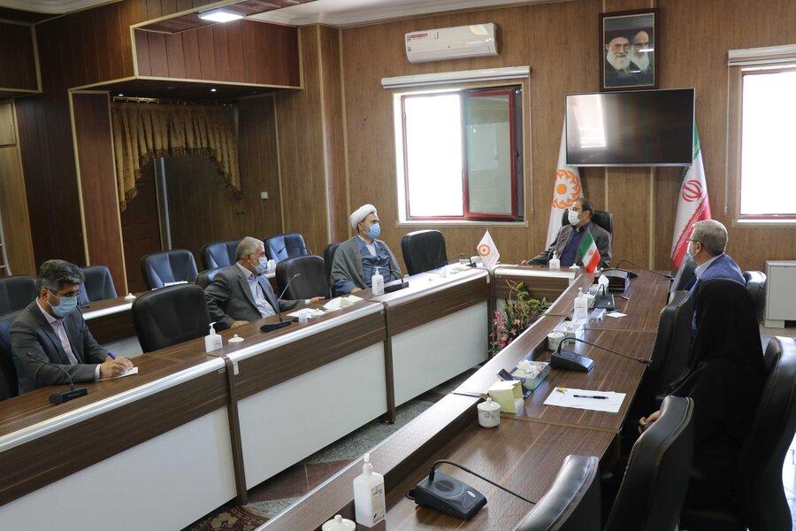 برگزاری نشست مشترک بین بهزیستی آذربایجان غربی و ستاد بازسازی عتبات عالیات استان