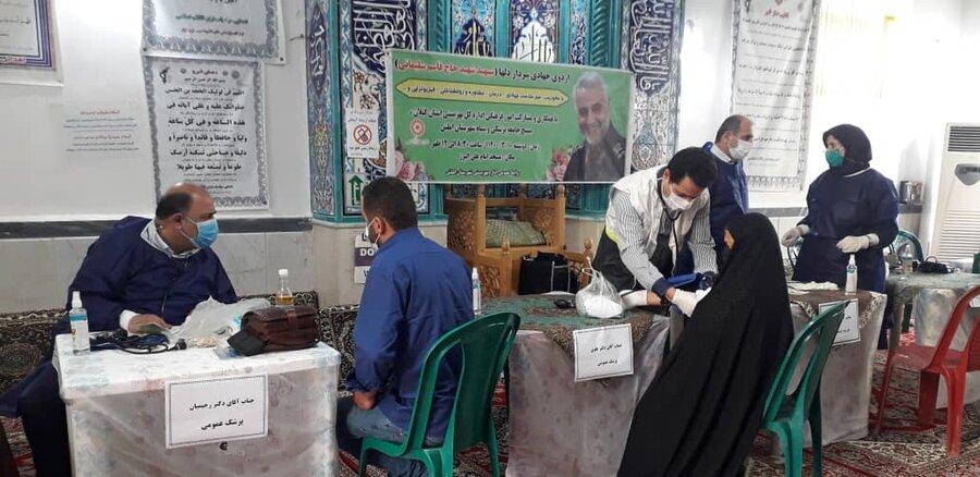 """اردوی جهادی سرداردلها """" شهید سپهبدحاج قاسم سلیمانی"""" در روستای البرز شهرستان املش"""