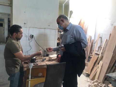 بازدید از کارگاه تولیدی توانخواه کارآفرین