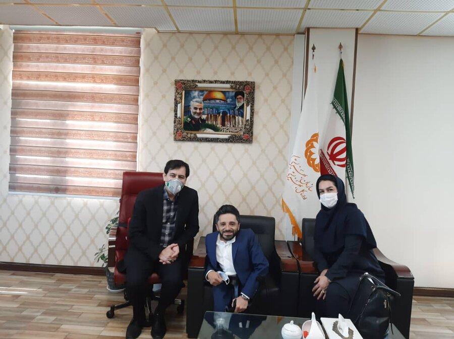 نشست مدیرکل بهزیستی استان با کارآفرین دارای معلولیت البرزی