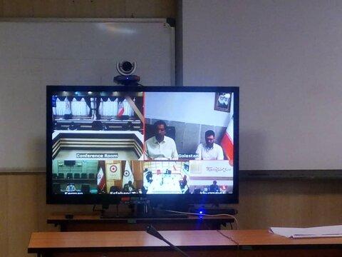 نشست مسئولان و کارشناسان روابط عمومی بهزیستی سراسر کشور بصورت ویدیو کنفرانس