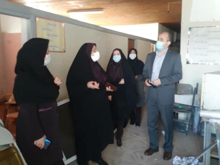 بازدید معاون امور اجتماعی از  مرکز اورژانس اجتماعی ۱۲۳ شهرستان لنگرود