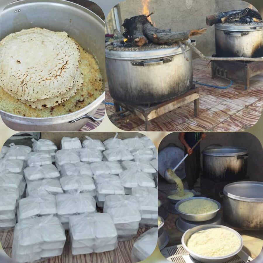 خرامه | توزیع غذای گرم به مناسبت شهادت امام جعفر صادق(ع)
