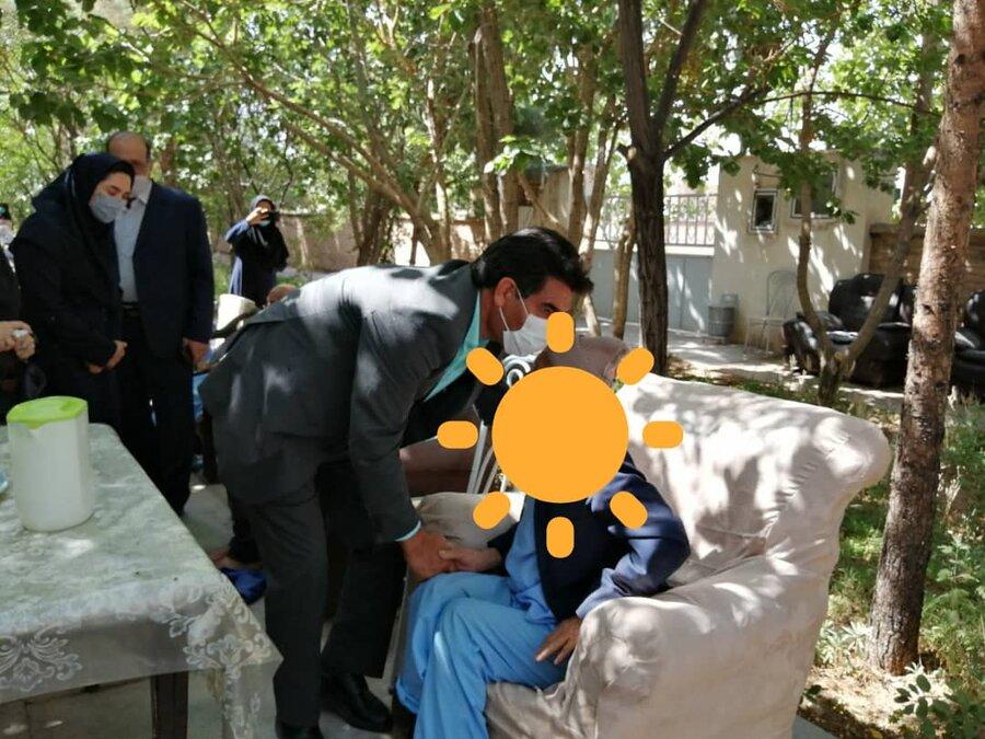 بازدید مدیرکل بهزیستی خ ج از مرکز سالمندان فجر امید فردوس
