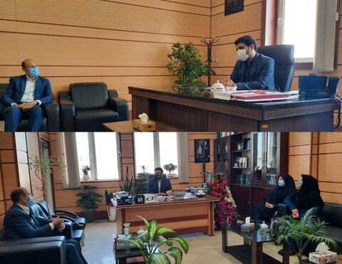 فردیس | دیدار رئیس بهزیستی شهرستان فردیس با رئیس دادگستری