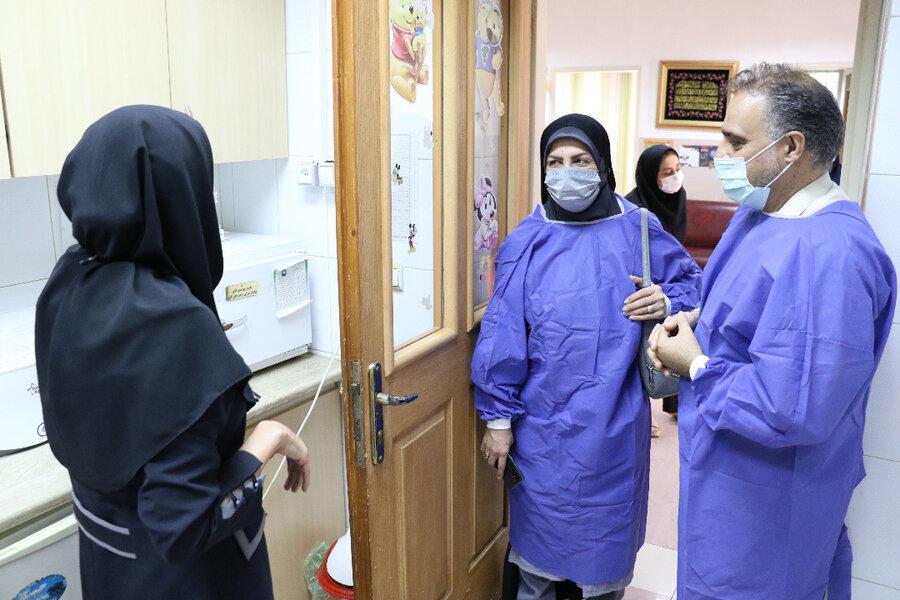 بازدید مدیرکل دفتر امور کودکان و نوحوانان سازمان بهزیستی کشور از خانه نوزادان و نونهالان مهر ( شیرخوارگاه) در رشت