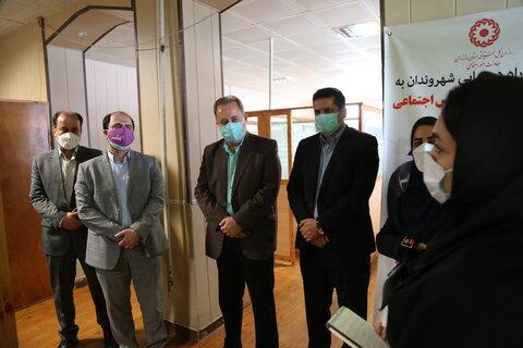 گزارش تصویری / بازدید مدیر کل دفتر امور آسیب دیدگان اجتماعی سازمان بهزیستی کشوراز خط ۱۲۳ شهرستان ساری