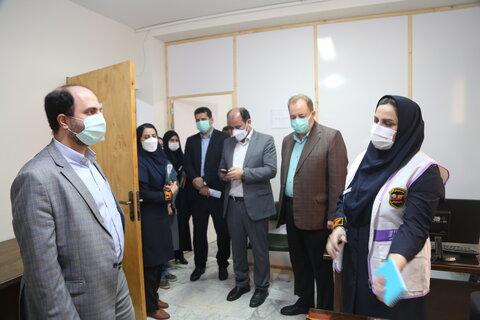 گزارش تصویری/ بازدید مدیر کل دفتر امور آسیب دیدگان اجتماعی سازمان بهزیستی کشور از اورژانس اجتماعی