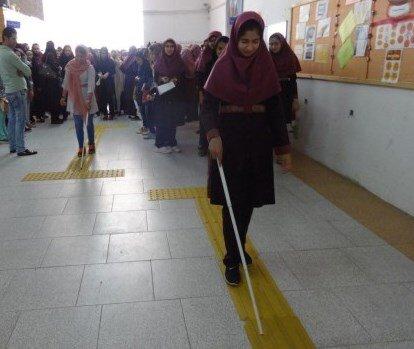 کلیه ادارات تا پایان سال جاری موظف به مناسب سازی مسیر ویژه ی نابینایان هستند