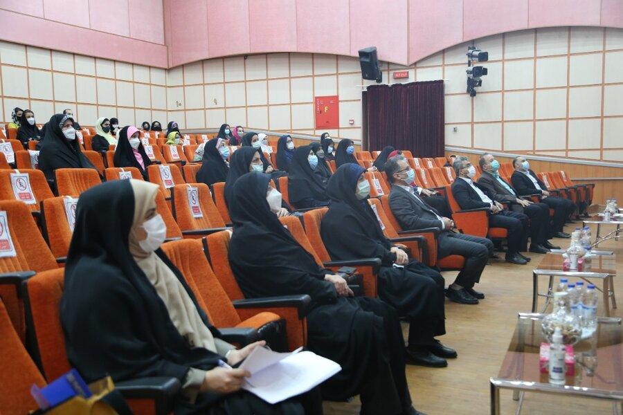 آیین تجلیل از دختران نمونه استان مازندران